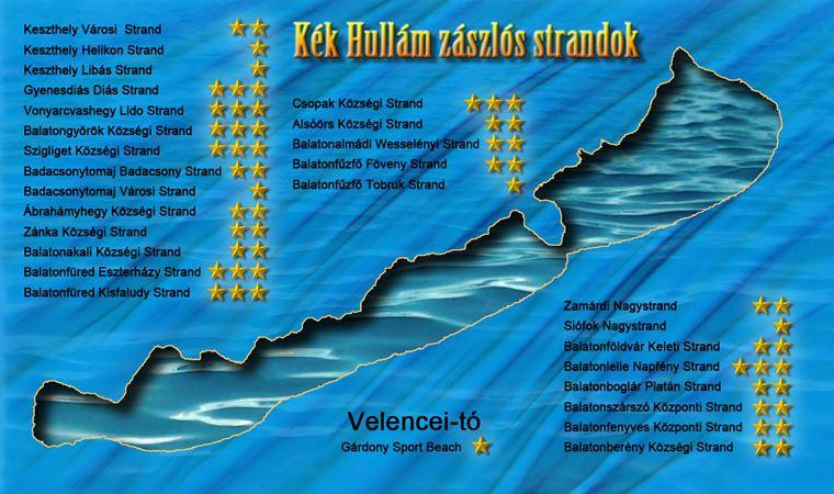 Kék Hullám zászlós strandok 2015